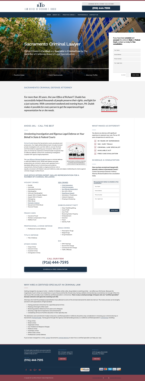 Custom Website Design for Law Office of Richard T. Dudek