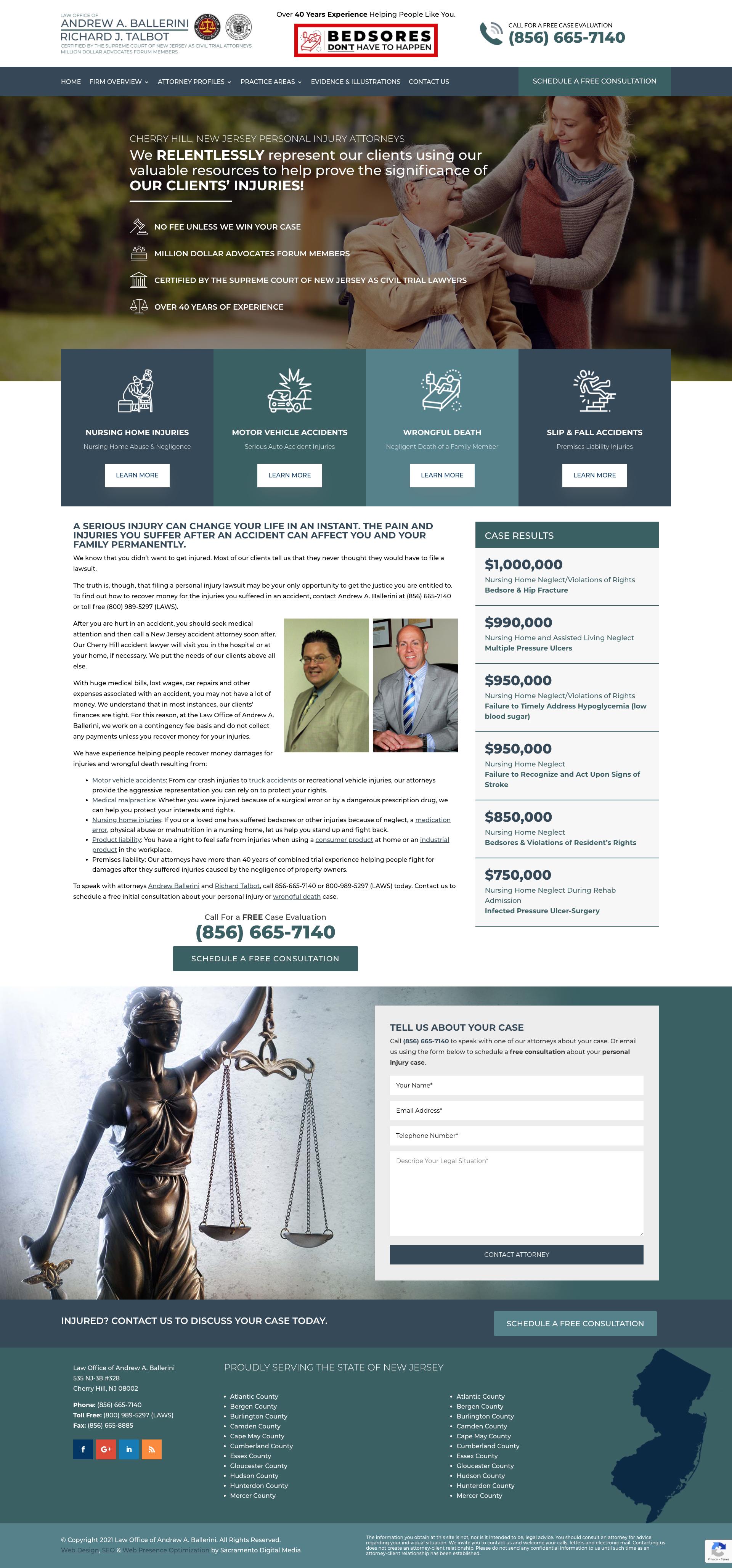 Sacramento Web Design Ballerini Law