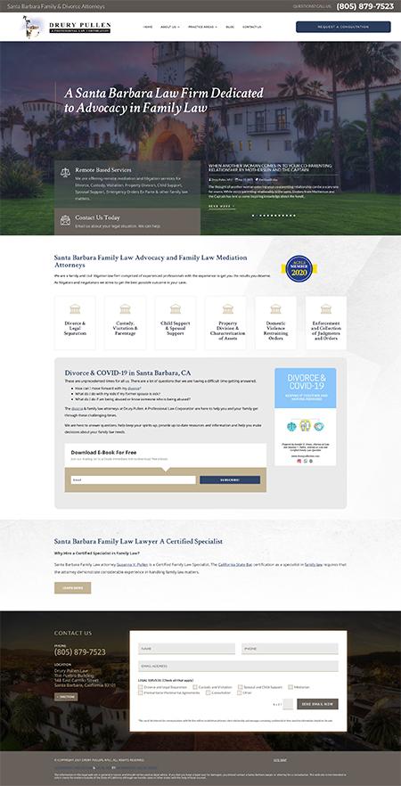 Sacramento Web Site Design - Drury Pullen Law