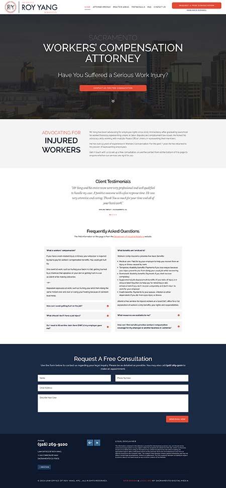 Web Design in Sacramento Roy Yang Law